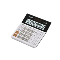 Casio 12-digit Landscape Basic Function Calculator White (Pack of 1) MH-12WE