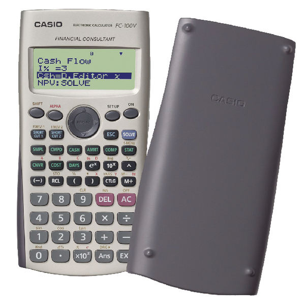 Casio 12-Digit Silver Financial Calculator FC-100V-UM