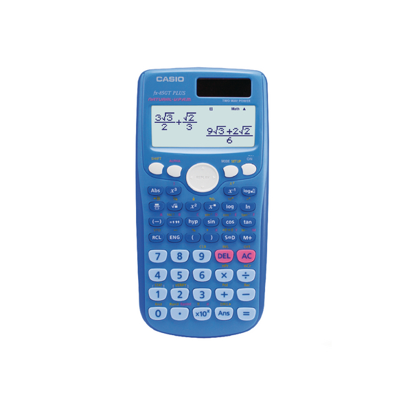 Casio Scientific Calculator Twin-Powered Blue FX-85GTPLUSBU-SB-UH