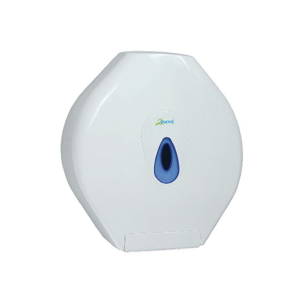 2Work Standard White Jumbo Toilet Roll Dispenser DS925E