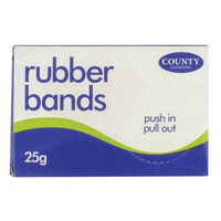 County No. 64 Rubber Bands (Pack of 10) C209