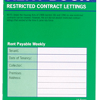 County Restricted Tenancy Rent Book (Pack of 20) C236