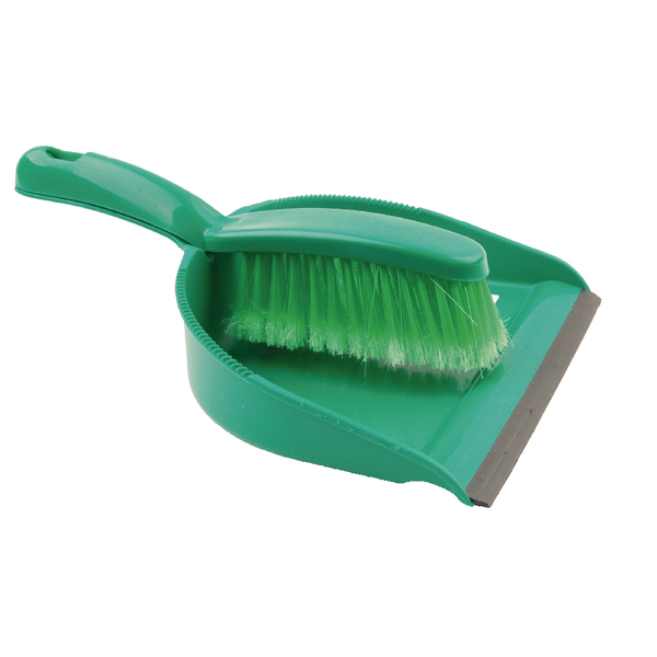 Image for Green Dustpan and Brush Set 102940GN