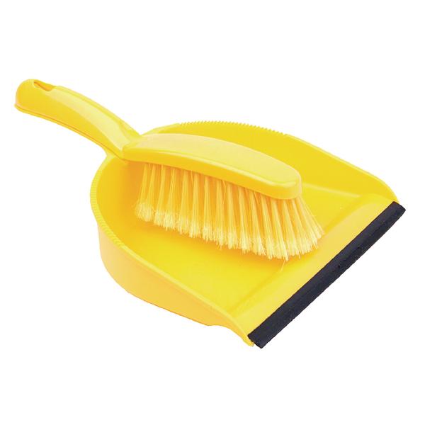 Dustpan Brush Set Yellow