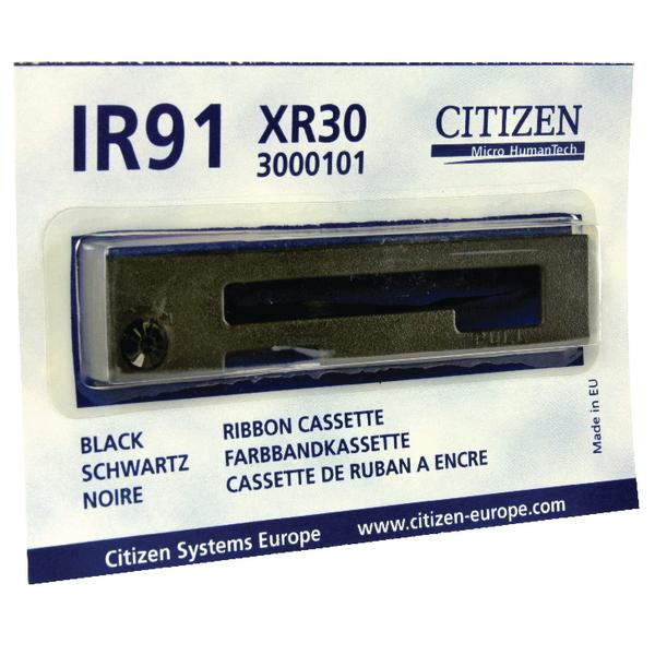 Citizen Black XR30 Mini Printer Ribbon For IR91 Series Printer s 3000101