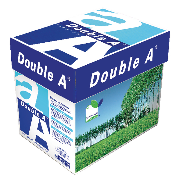 Double A White Premium A4 Paper 80gsm 500 Sheets 3613630000059 (2500 Pack)