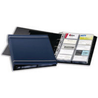 Durable Visifix Dark Blue A4 Business Card Album 2388/07