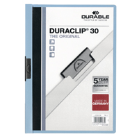 Durable A4 Duraclip File 3mm Blue (Pack of 25) 2200/06