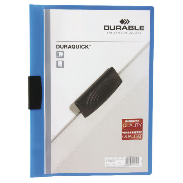 Durable Duraquick A4 Blue File Pack of 20 2270/06