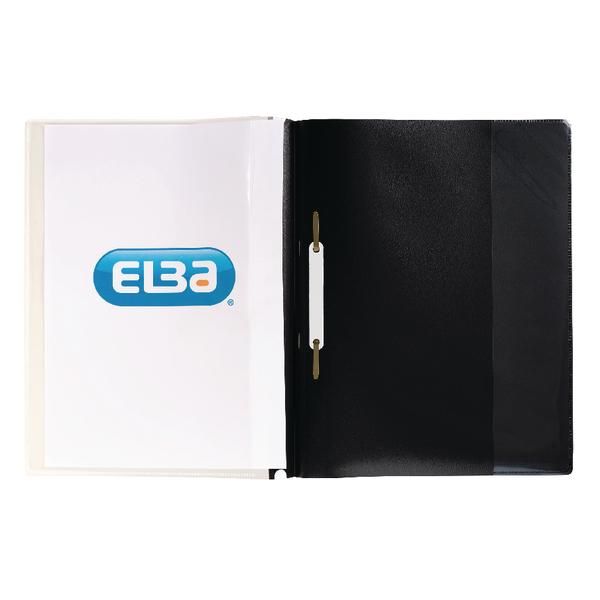 Elba A4 Black Pocket Report File Pack of 25 400055036
