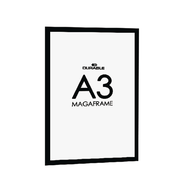 Durable A3 Black Duraframe (2 Pack) 4873/01