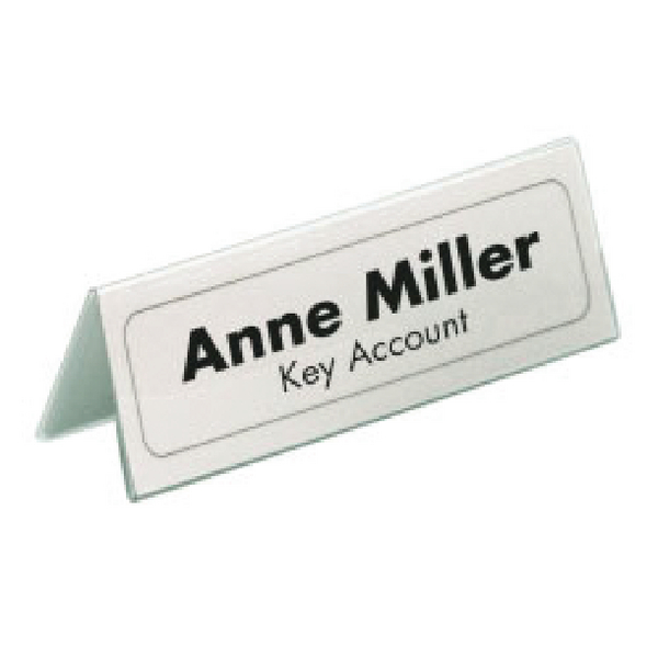 Durable Table Name Holder 61x150mm (25 Pack) 8050