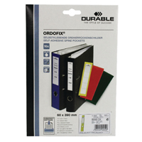 Durable Yellow Ordofix File Spine Label (Pack of 10) 8090/04