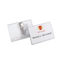 Durable Crocodile Clip Name Badge 40x75mm (25 Pack) 8110
