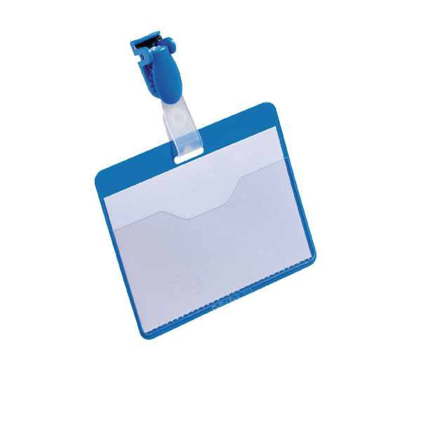Durable Blue Visitor Name Badge 60x90mm (Pack of 25) 8147/06
