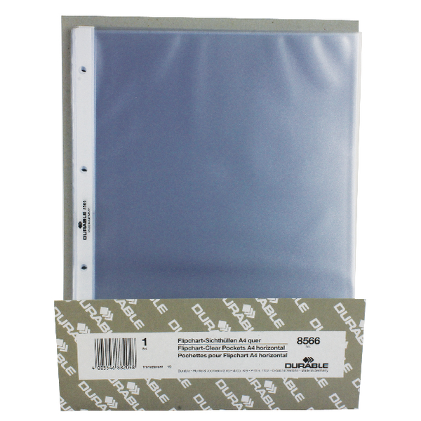 Durable Table Top Presenter Pockets A4 Landscape (Pack of 10) 8566