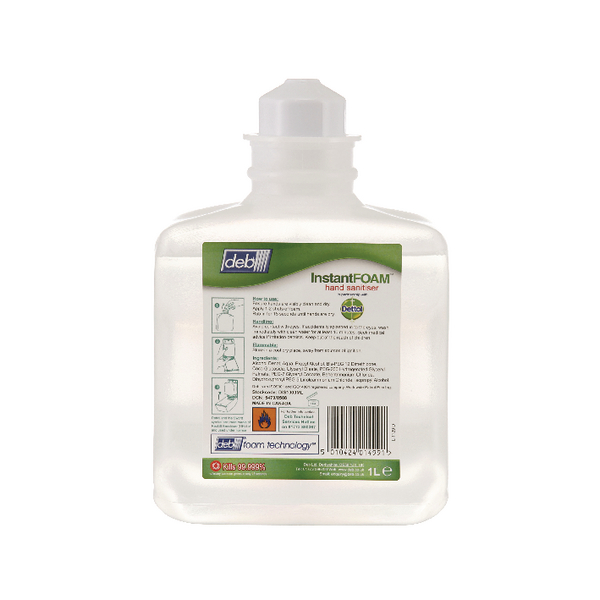 Deb Instant Foam Complete 1 Litre Cartridge (Pack of 6) DIS1000ML