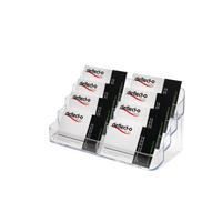 Image for Deflecto 4-Tier 8-Pocket Business Card Holder Crystal DE70801