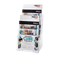 Deflecto 4 Tier Literature Holder A4 (Pack of 1) 77441