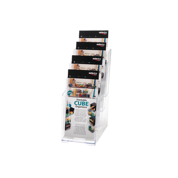 Deflecto 1/3xA4/DL 4-Tier Clear Literature Holder 77701
