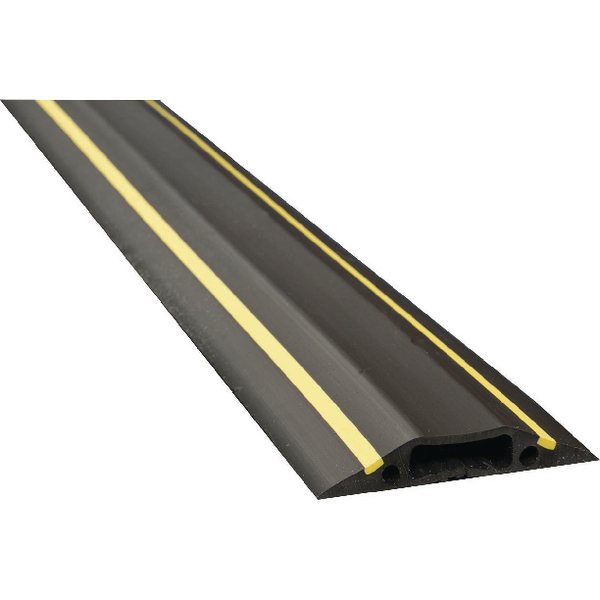 Image for D-Line Black /Yellow Medium Hazard Duty Floor Cable Cover 9m FC83H/9M