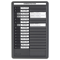 Indesign Grey In/Out Board Message Centre 15 Names (pack of 1) PTDMC15(IN)