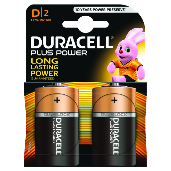Duracell Plus D Battery (Pack of 2) 81275443