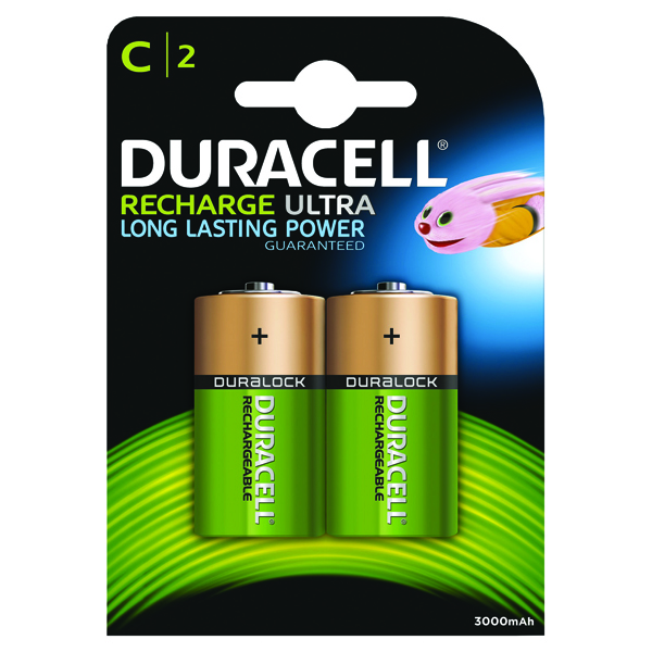 Image for Duracell C Rechargeable NiMH Batteries (Pack of 2) 75052458