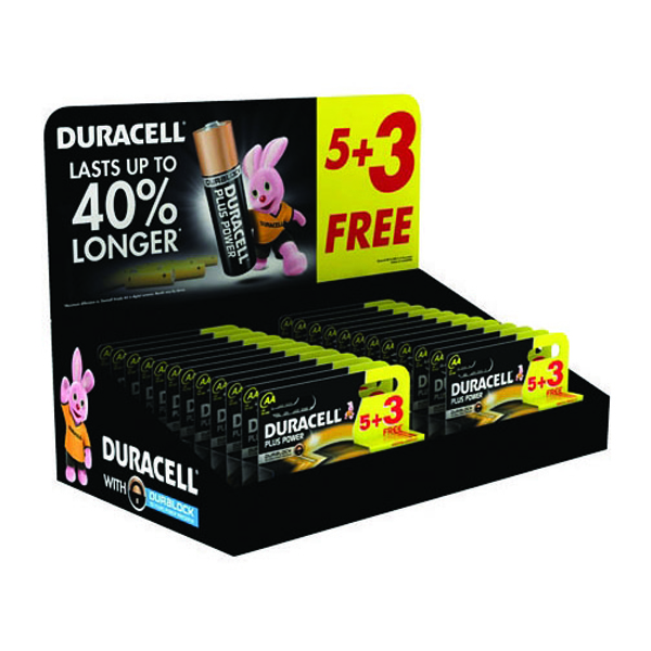 Image for Duracell AA Plus Power Batteries 5+3 Free (Retail (Pack of 24) 81446192