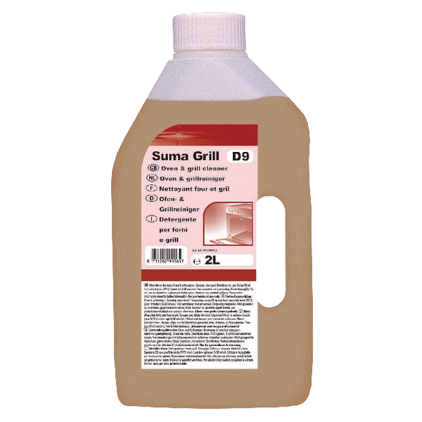 Diversey Suma Grill D9 Oven Cleaner 2 Litre (Pack of 6) 7010064