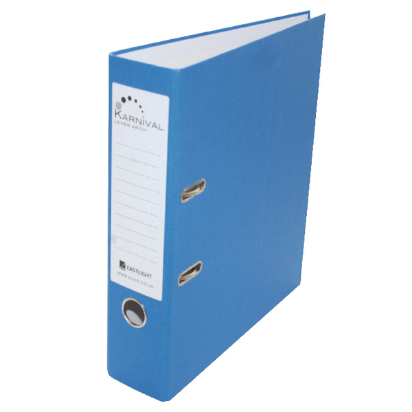 Rexel Karnival 70mm Blue A4 Lever Arch File (Pack of 10) 20743EAST