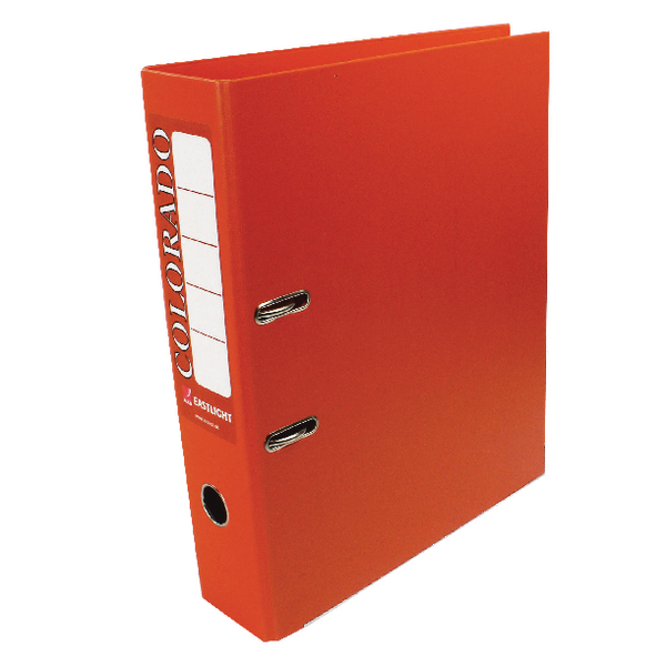 Rexel Colorado Foolscap Lever Arch File Orange (Pack of 10) 28116EAST