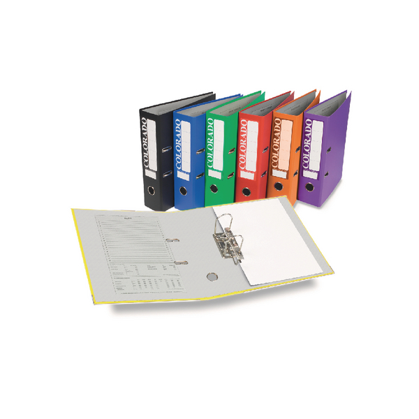 Rexel Colorado 80mm Black A4 File (Pack of 10) 28145EAST