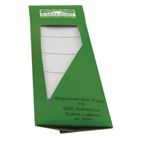Rexel Standard Spine Label for Rexel Lever Arch and Box File White (Pack of 10) 29300EAST