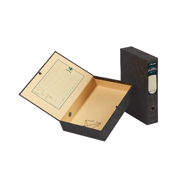 Image for Acco Eastlight Classic Box File Lockspring Foolscap Black 30115EAST