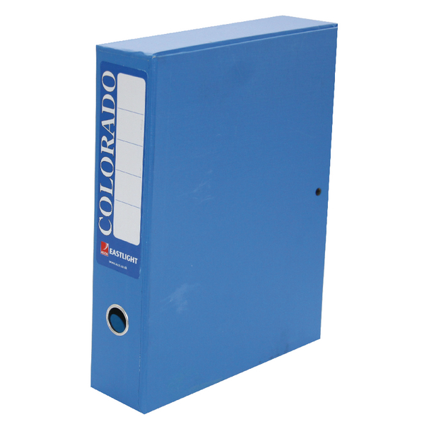 Image for Acco Eastlight Colorado Box File Lockspring A4 Blue 30443EAST