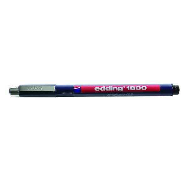 Image for Edding Black Profipen 1800 0.3mm Technical Pen (10 Pack) 1800-0.3-001