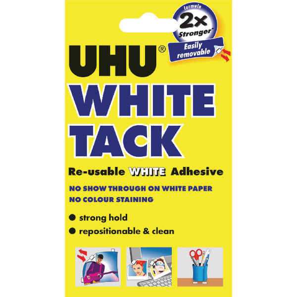 Image for UHU White Tack 62g Handy Pack of 12 42196