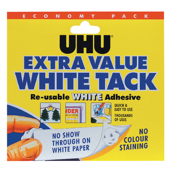 UHU White Tack Economy Pack 129g (6 Pack) 43527
