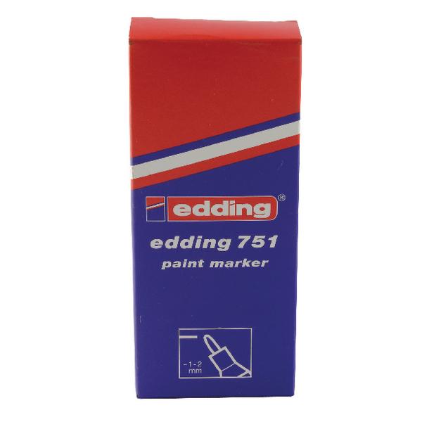 Edding 751 Fine Bullet Tip Silver Paint Marker (10 Pack) 751-054