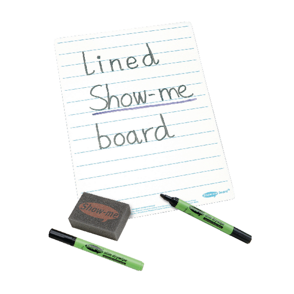 Show-me A4 Lined Whiteboards C/LIB
