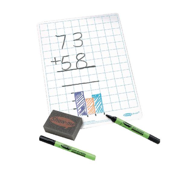 Show-Me A4 Squared Whiteboard (35 Pack) C/SQB