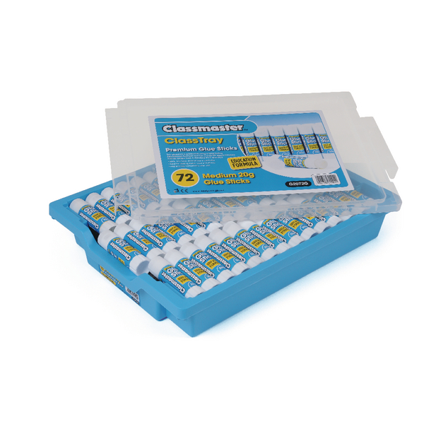 Classmaster Education Gluestick 20g in Gratnells Tray (72 Pack) G2072G