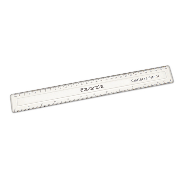 Classmaster Clear Class Ruler 30cm (Pack of 100) SPR30100