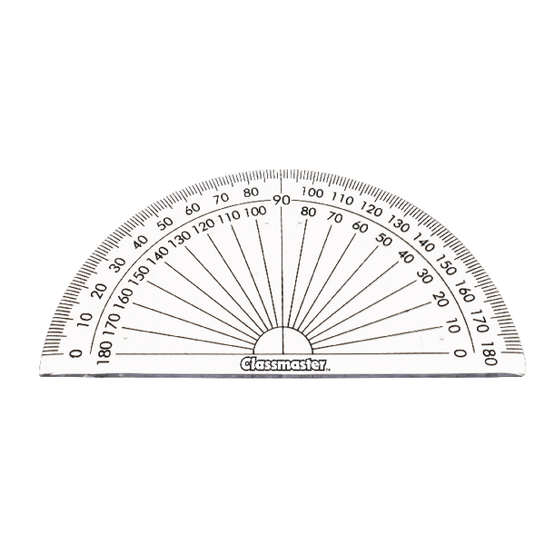 Classmaster 180 Degree Protractor (Pack of 10) 899595