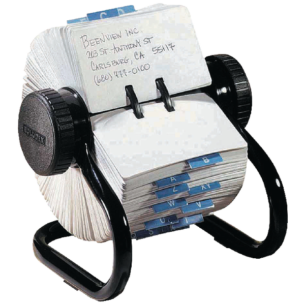Image for Rolodex Classic 500 Rotary Open Card File Black S0793600