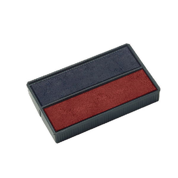 Colop E/4850 Replacement Pad Blue and Red (Pack of 2) E4850