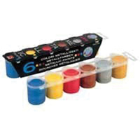 Elco Assorted Metallic Paints 6 Tubs (Pack of 12) MOR50013