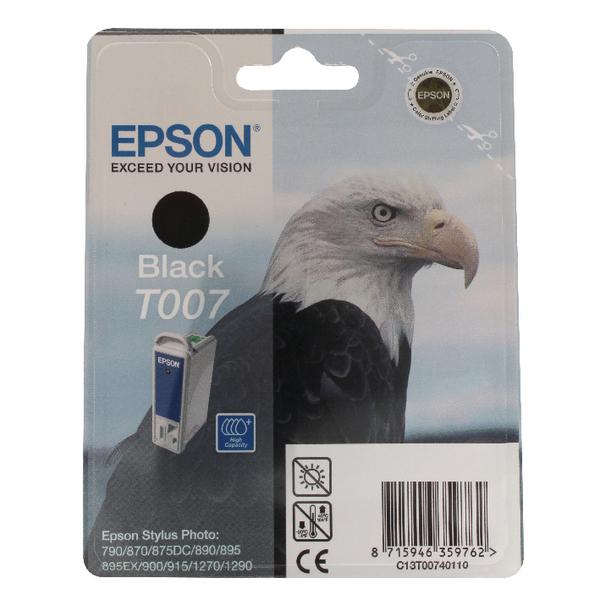 Epson T007 Black Inkjet Cartridge C13T00740110 / T0074