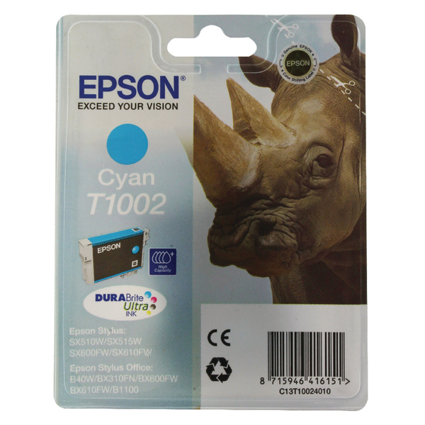 Epson T1002 Cyan Ink Cartridge C13T10024010 / T1002